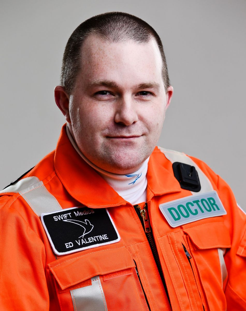 dr ed valentine clinical lead corsham callsign wb006